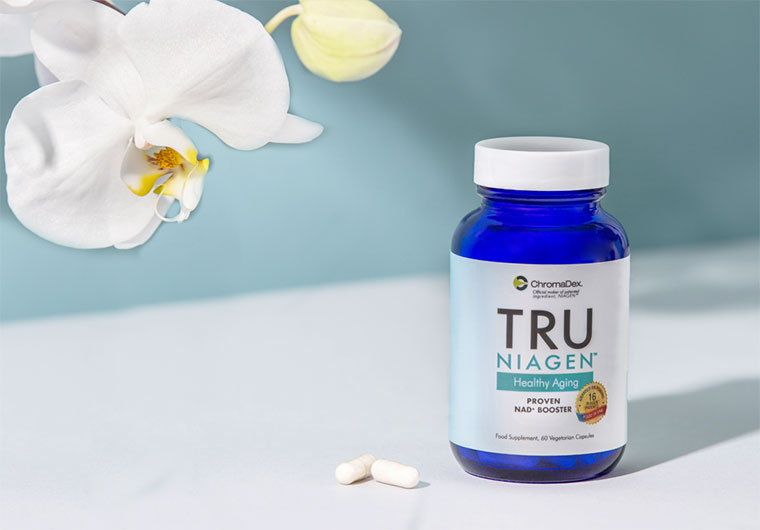 Hero image of the TruNiagen NAD supplement product